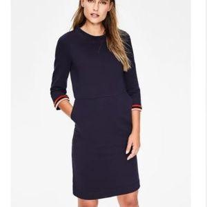 Boden Livia Sweatshirt Dress - Navy